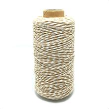 SR 100m 2mm Cappuccino Brown Bakers Twine Eco Friendly Light Brown Cotton String For Cooking