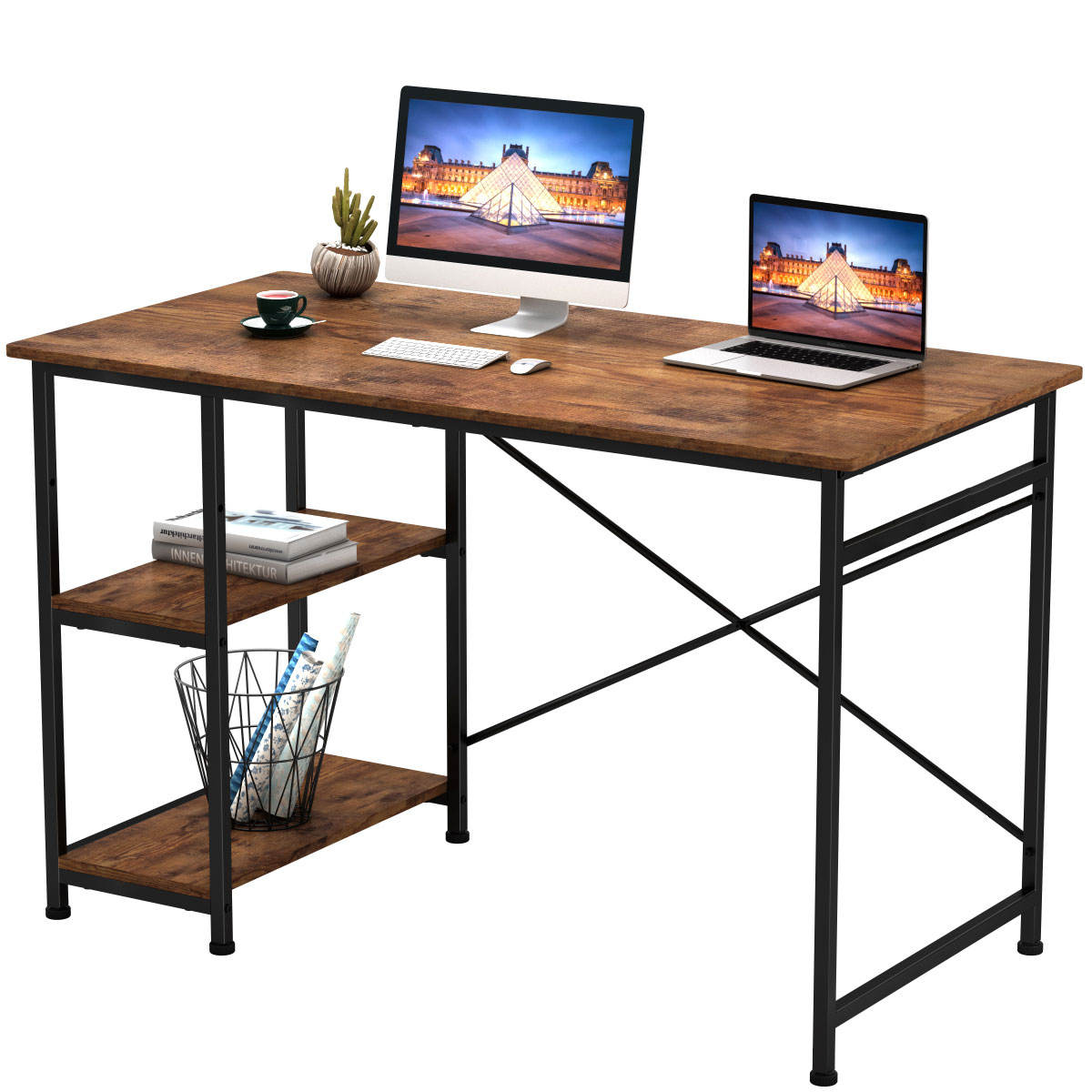 laptop mesa do computador para o estudo as crianças e escrita mesa do computador de escritório em casa moderna do tamanho padrão