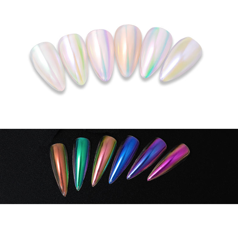 Nail Supplier Easy To Use Nail Painting UV Gel Magic Mirror Holographic Powder Cushion Pen