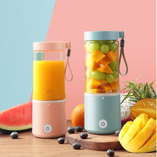 battery plastic jar 6 blades household wholesale portable usb juicer Multifunctional mini travel rechargeable personal  blender