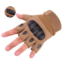 Heavy Outdoor Half Finger tactical fingerless gloves military army shooting