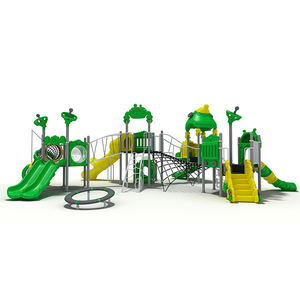 Commercial multi function children plastic outdoor playground equipment plastic slide for sale kids outdoor toys