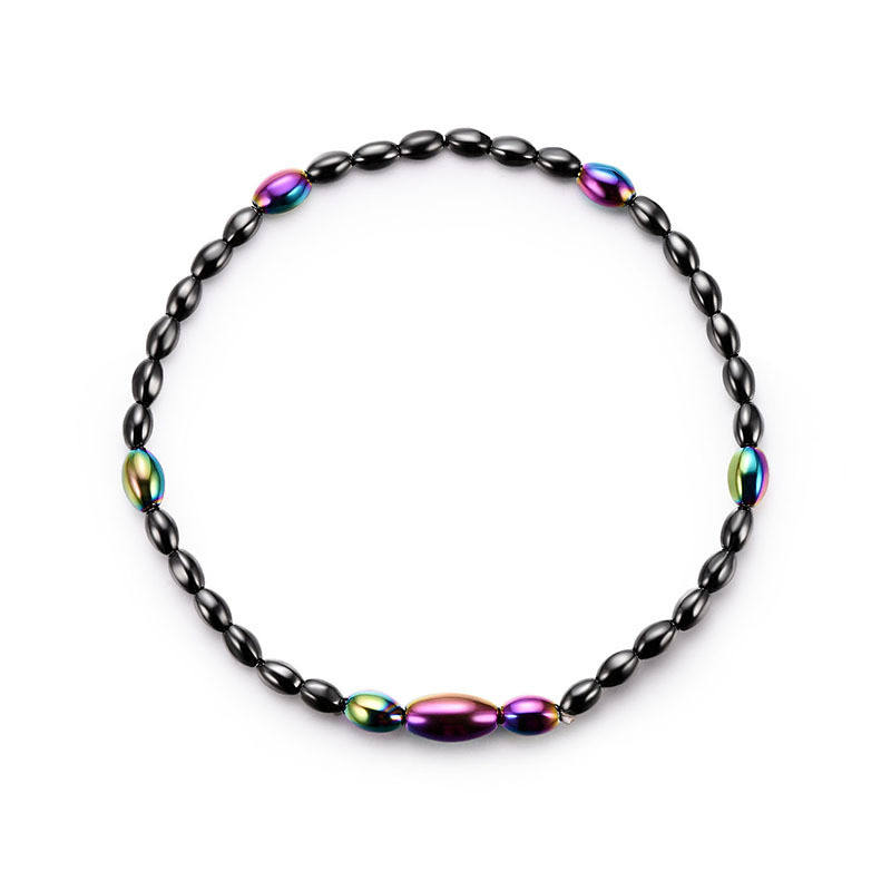 Fashion Colorful Magnetic Stone Beaded Anklet Weight Loss Therapy Ankle Bracelet for Slimming Health Care jewelry