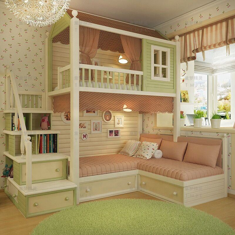 Customize Wood Children Bunk bed For Sale
