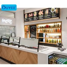 New Milk Tea Shop Counter Design  Bubble Tea Store Equipment Bubble Tea Kiosk Shopping Mall