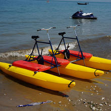New Design Adult Inflatable pvc Pontoons Sea Beach Bikes Double Person Pedal Water Amusement Bicycle
