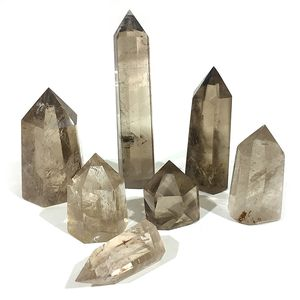natural smokey citrine quartz crystal points for healing