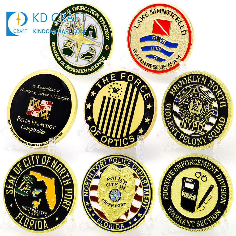 Supply high quality custom metal zinc alloy enamel military USA cheap challenge coin