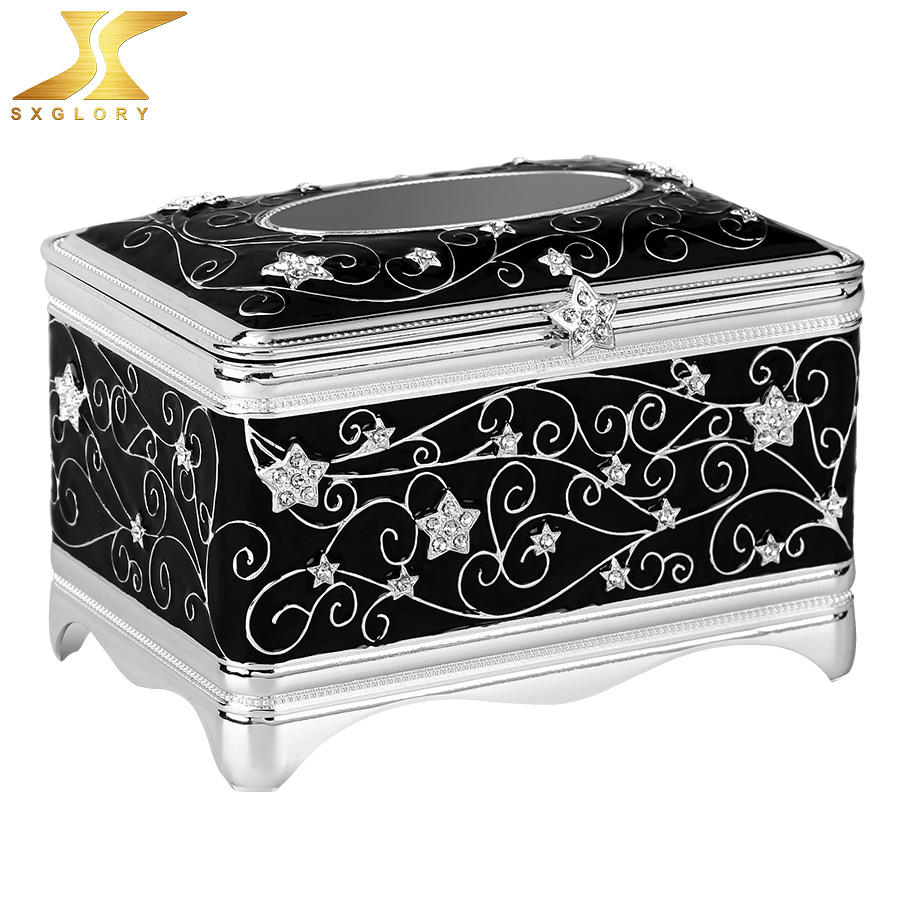 Organization metal jewelry box customized earrings Jewelry boxes with Logo customizable