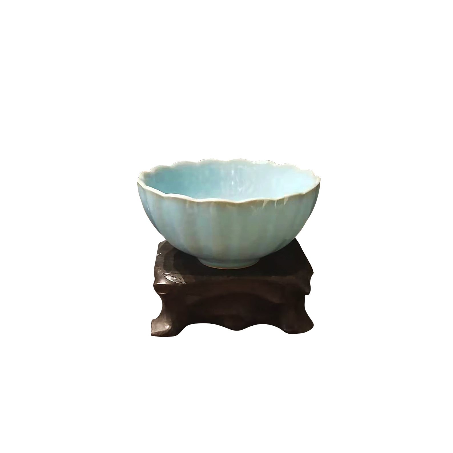 Ru porcelain blue and green color cup Popular ceramics new year gift for friends parents home tea chinese style
