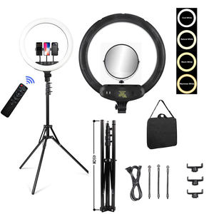 50W 336Leds 18 Inch Circular Dimmable Camera Photography Studio Video Lamp Led ringlight with mirror