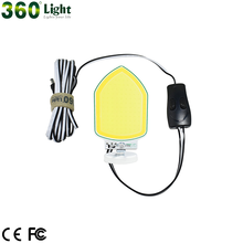 360 LED Light Dual Colors Snara Light With Magnet 120W COB Rod LED Outdoor Camping Lantern Light Lamp for Car Repairing