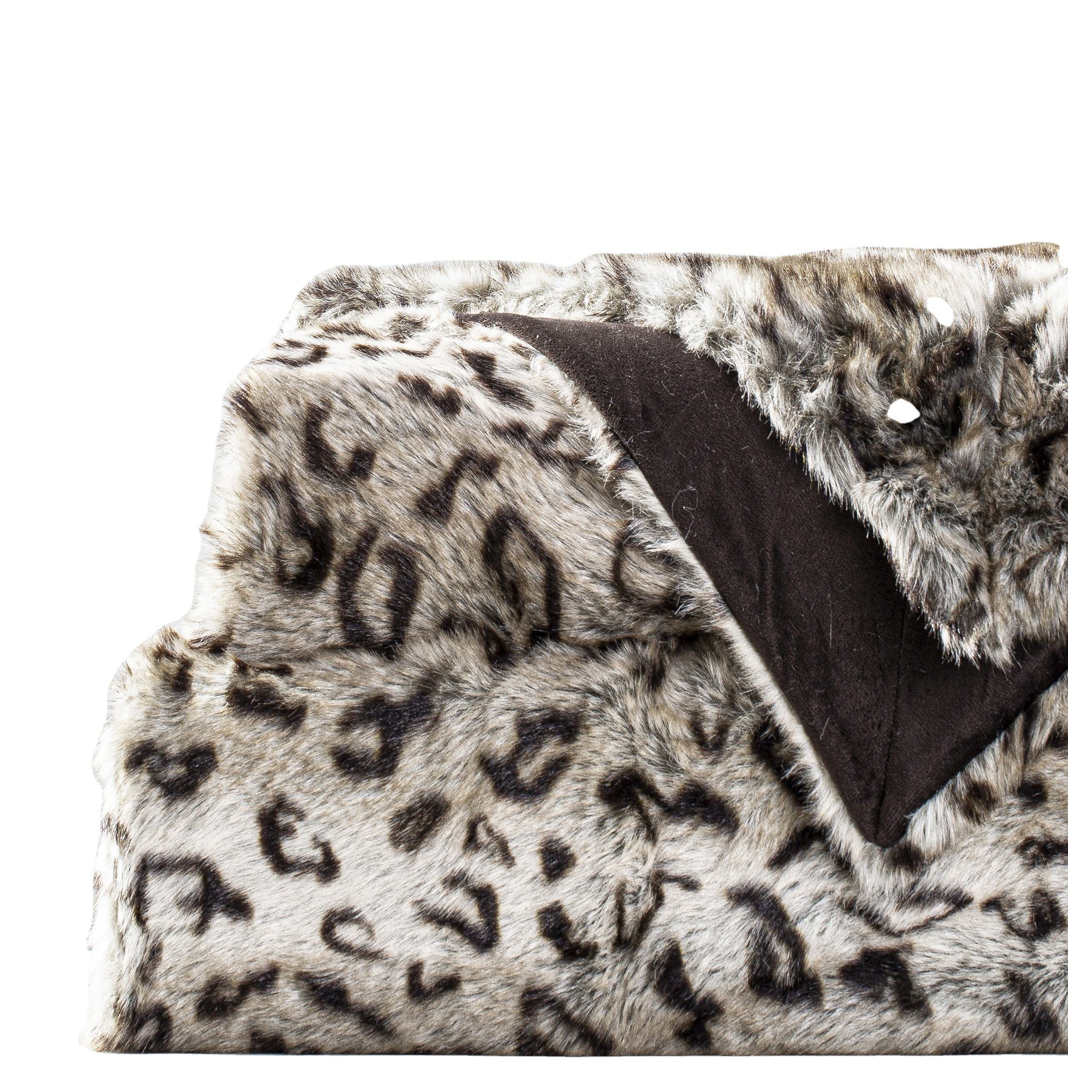 Afresh alternative everincreasing popular luxury new design leopard-print faux fur throws and blankets