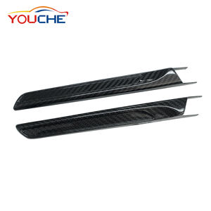 2 Pcs Carbon Side Fender Abdeckung Dekoration Vent Fender für BMW M3 F80 & M4 F82 2014-2019