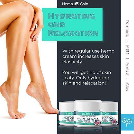 Organic Hemp Pain Relief Hot sale CBD hemp seed pain cream