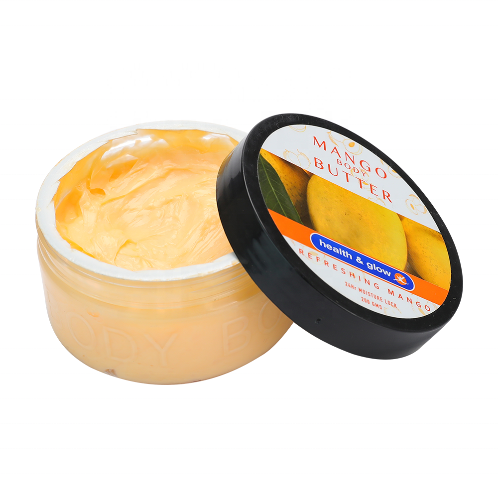 Private Labels Natural Organic Skin Whitening and Lightening Body Lotion Mango Body Unrefined Shea Butter Cream 200G