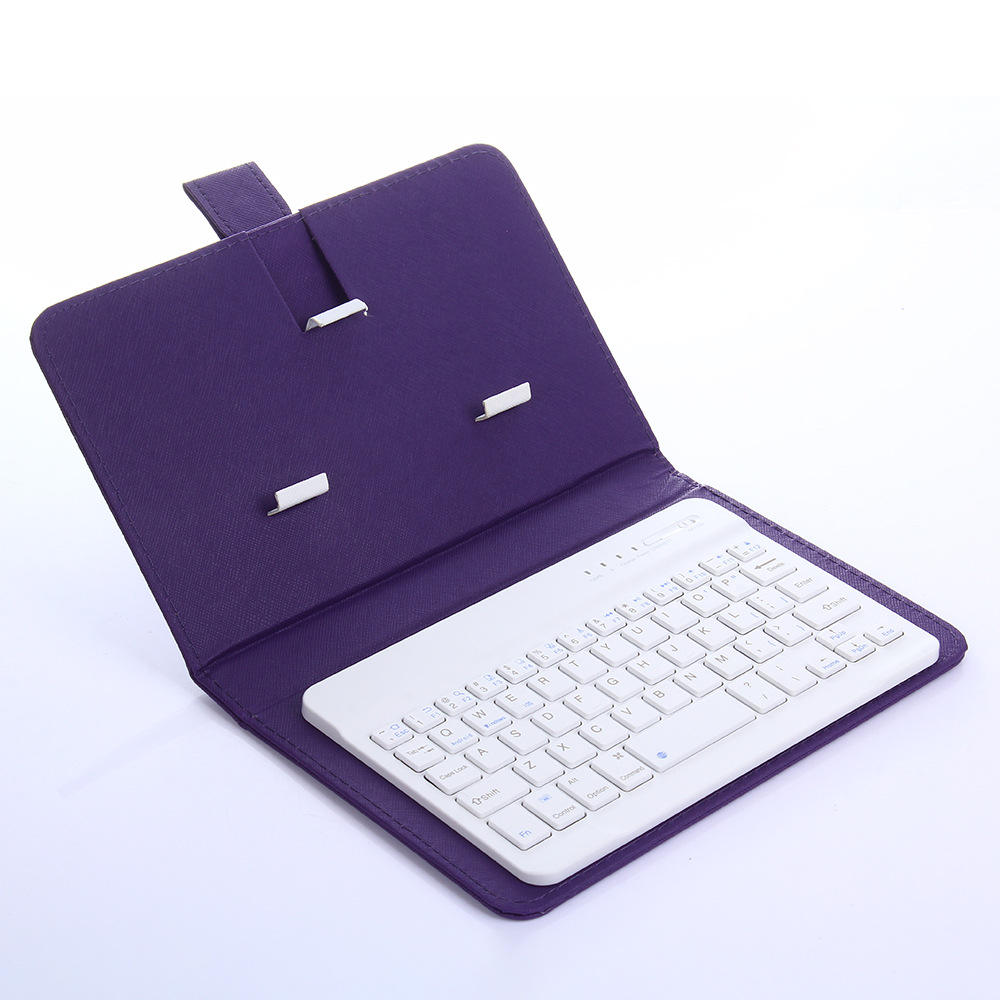 High quality Blue tooth wireless leather case external keyboard for mobile phone