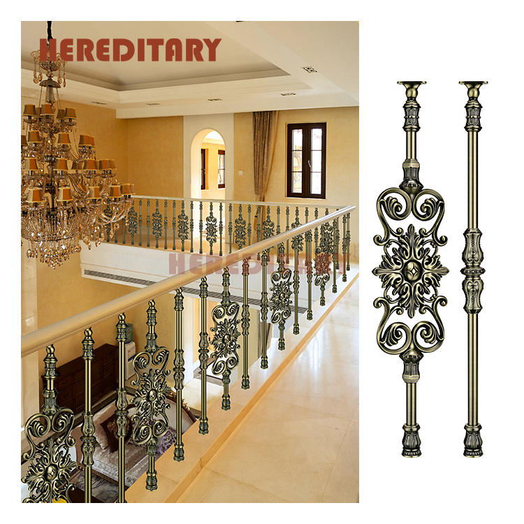 Factory direct sale terrace aluminum railing baluster metal handrail for porch