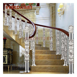 High Grade indoor clear acrylic baluster /plastic glass stair handrail China supplier