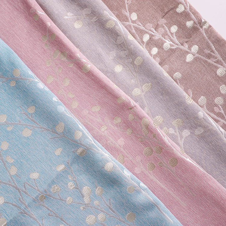 Low MOQ stock fabric jacquard luxury curtain fabric