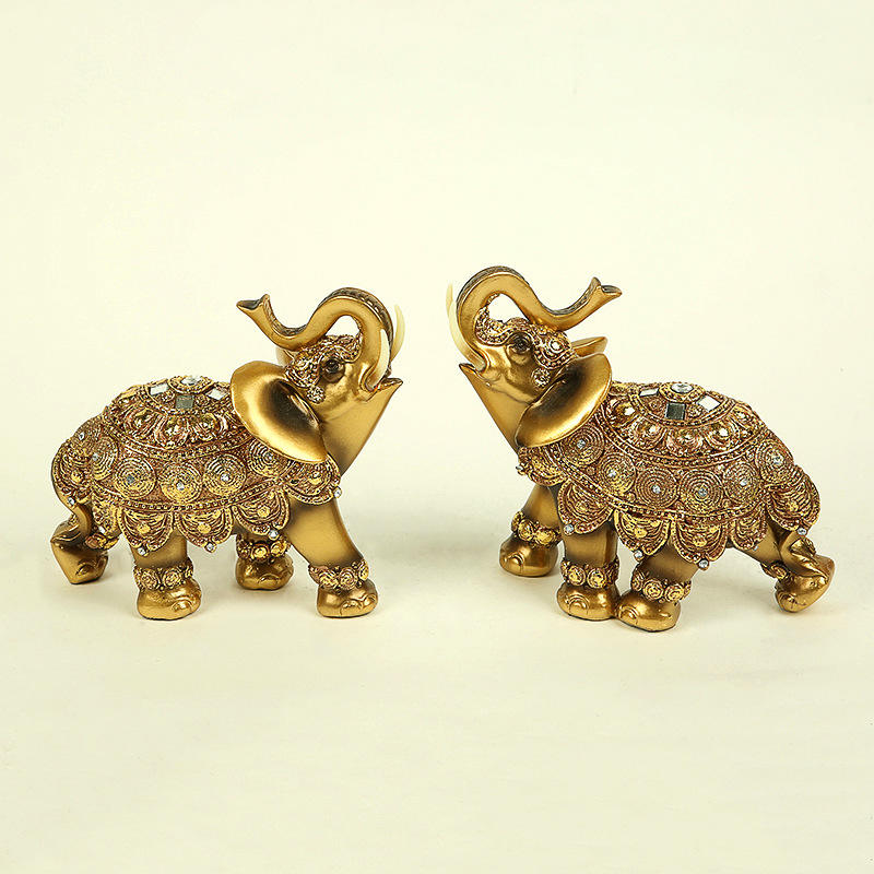 resin craft animal statue elephant ornaments gifts for wedding home decoration Polyresin sculpture