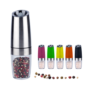 Low moq customized round spice grinders wholesale  Low moq manufacture round salt and pepper grinder set