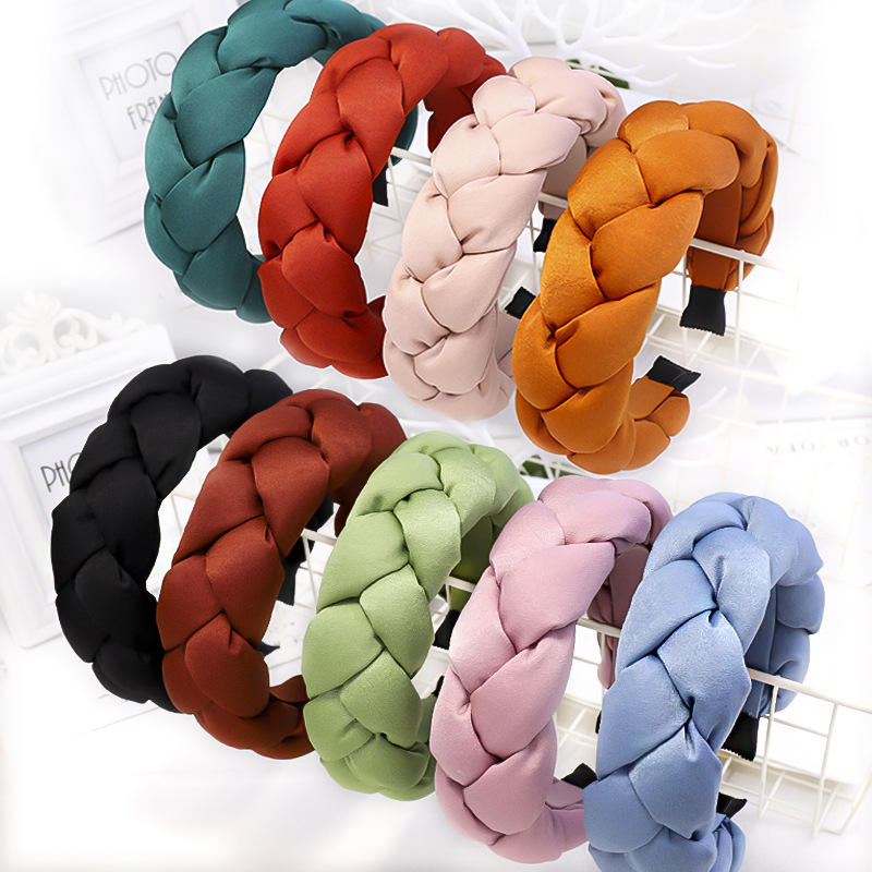 Dvacaman Knitting Padded Big Huge Winter Women Sponge Party Hair Accessories Headbands