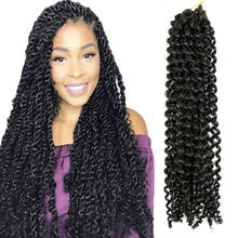 Synthetic Wholesale Nubian Pre Twisted Passion Water Wave Crochet Curly Braid Hair Passion Twist Hair