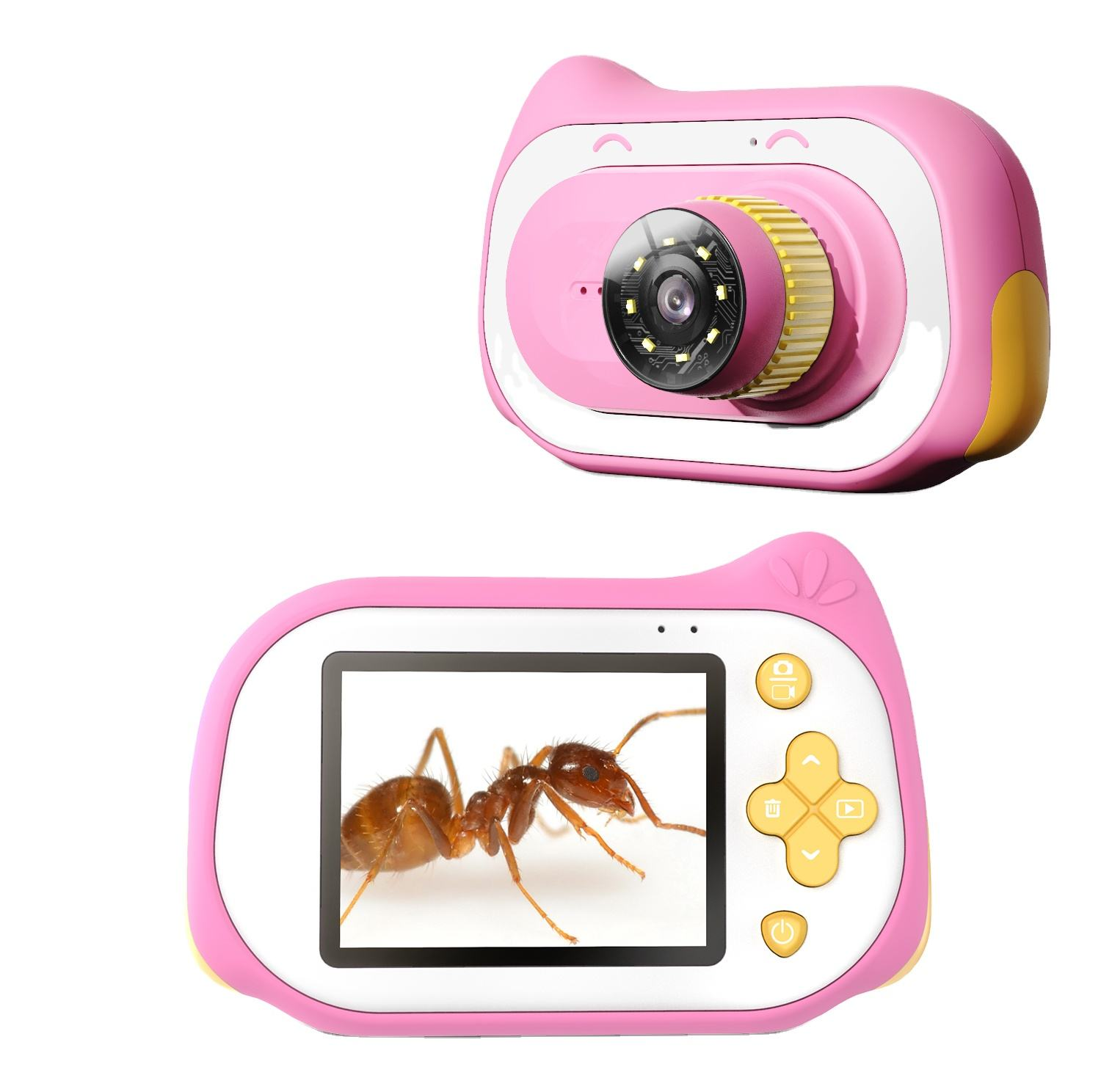 2020 Birthday Party Selfie Function Gift Kid Camera Toy Support Android IOS Children's Camera with 64G Memory Card Support