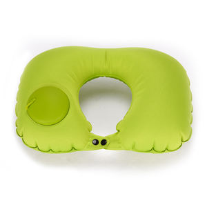 Wholesale Cheap Customized Logo Color Acceptable PVC Travel Airplane Car Train Rest Neck Support Inflatable Pillow