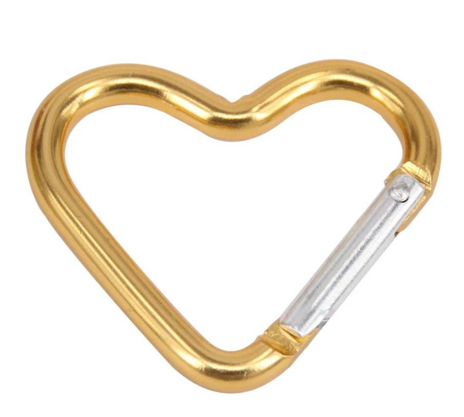 HXY Wholesale Custom Heart Shaped Carabiner, Carabiner Heart Shape From China Factory 44*40*4.4MM