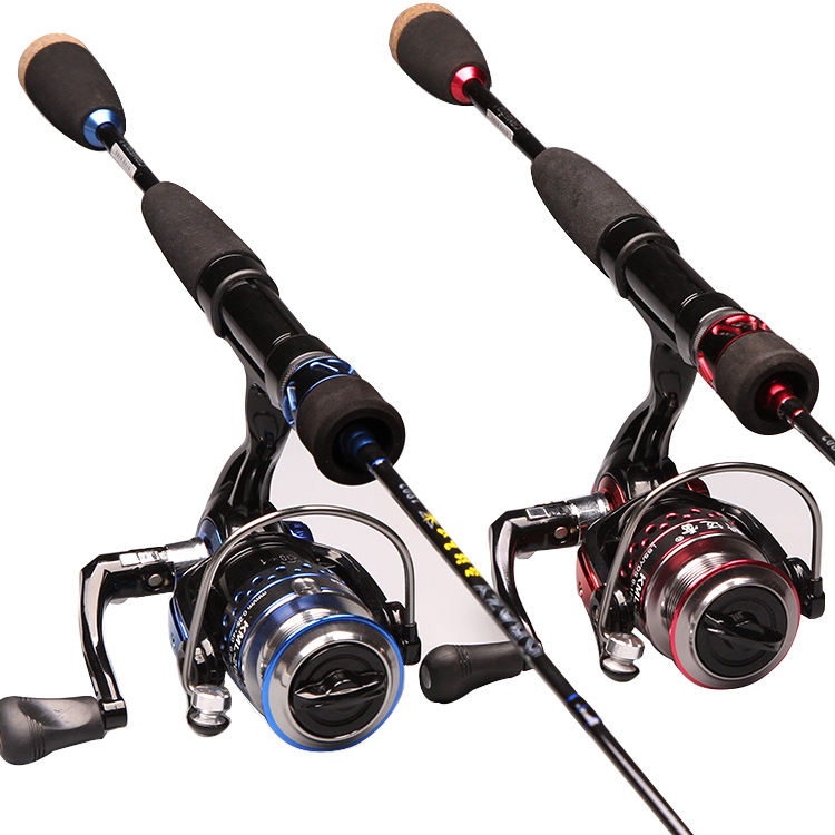 CEMREO M Action Light Weight 2 Section Carbon Fiber Fishing Rod and Reel Combo Set