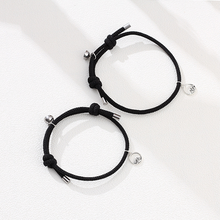 8colors Custom Magnetic Mountain and Sea Alloy bracelet For Couple 2pcs/set