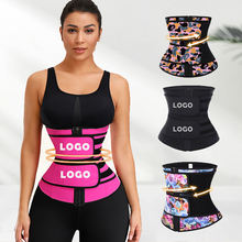 Hot Sale High Quality Two Belts To Firm Waist Control Slim Tummy Zip To Tight Fit Latex Waist Trainer Women