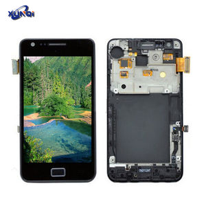 Voor samsung galaxy s2 lcd display LCD S II GT-I9100 met frame Mobiele telefoon touch screen Montage