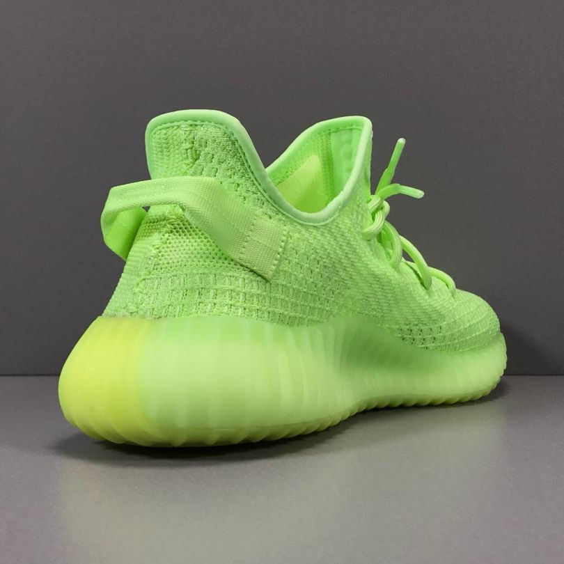 wholesale glow green gid boosts air yeezys in dark shoes running for women 350 v2 Yezz sports sneaker schuhe herren schwarz