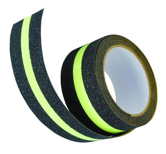 Packaging Customization [ Fluorescent Tape ] Slip Tape Glow In The Dark Stairs Single Side Fluorescent PET Anti Slip Tape