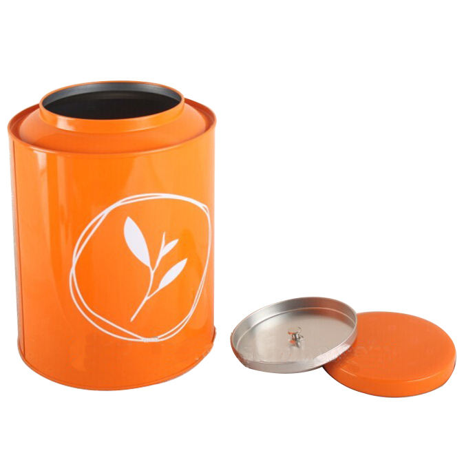 Customized tin tube packaging wholesale small stainless steel round tin box tea tins