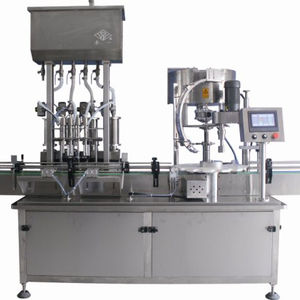 hdpe bottle glass bottle filling and capping packaging machine for liquid