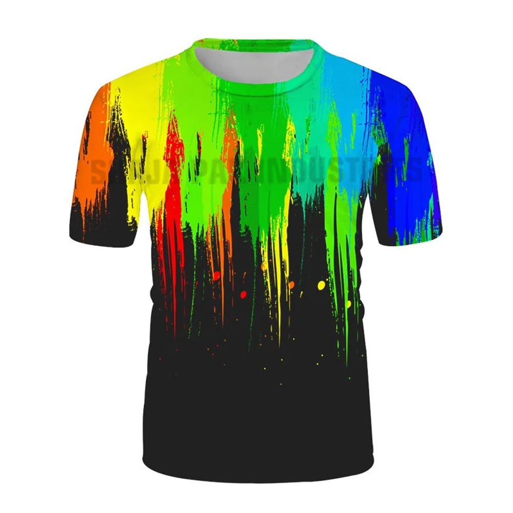Multi Color Men Sublimation T-Shirt For Sale Good Quality New Arrival Summer Use Sublimation T-Shirt