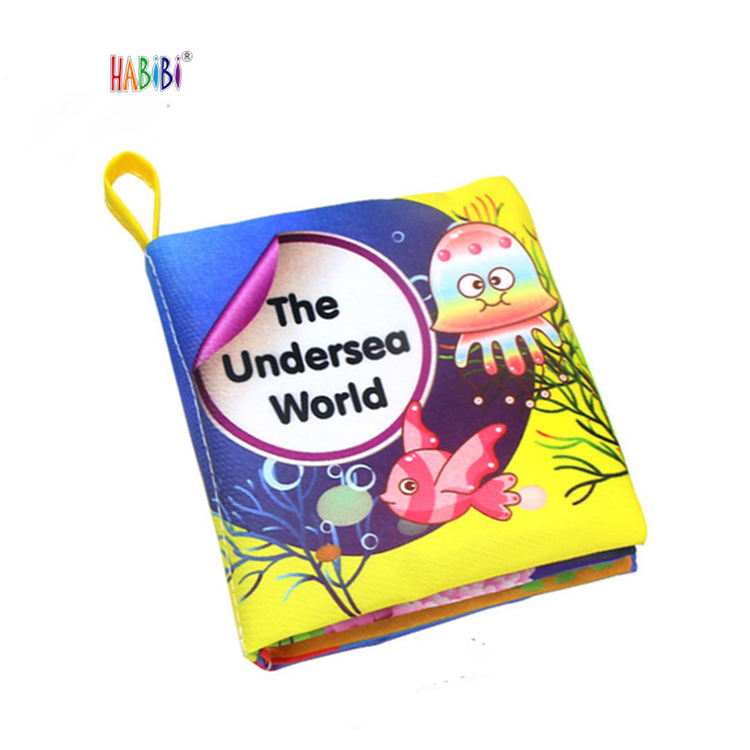 Fashion Design Eco-friendly Baby Used Washable Cloth Book Children Cognition Book Kids Quiet Cloth Book