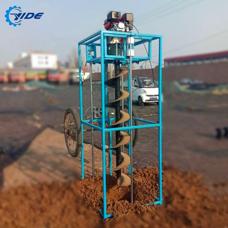 Low price screw piles machine earth auger mobile drilling rigs for sale
