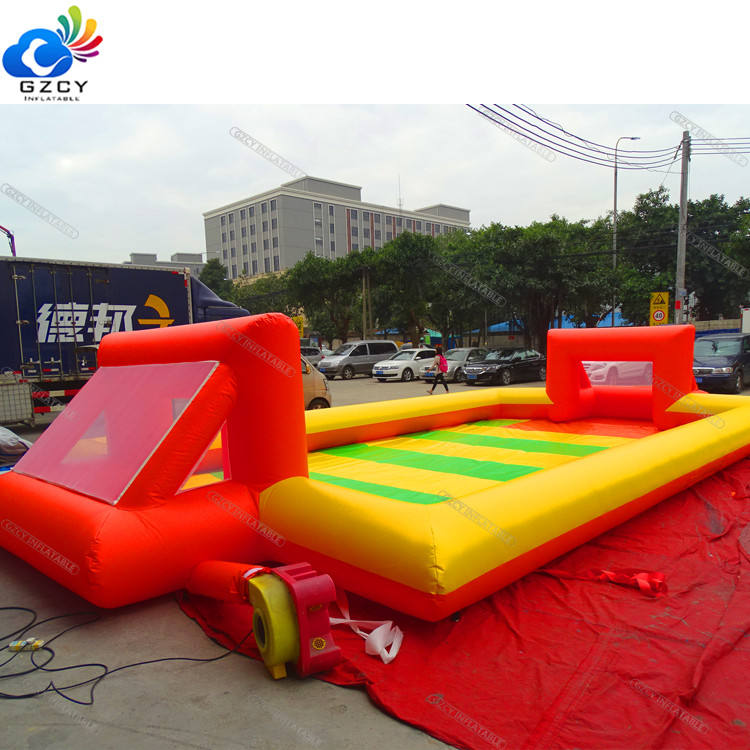Inflatable football pitch inflatable sports games with air pump inflatable soap soccer field