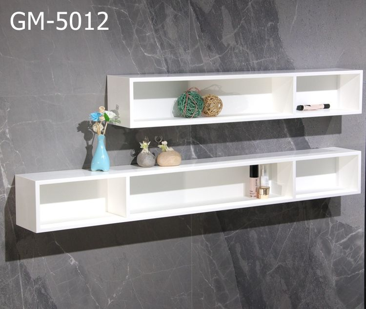 GM-5012 Sanitary Ware Products Solid Surface Artificial Stone Corner Bathroom Shelf