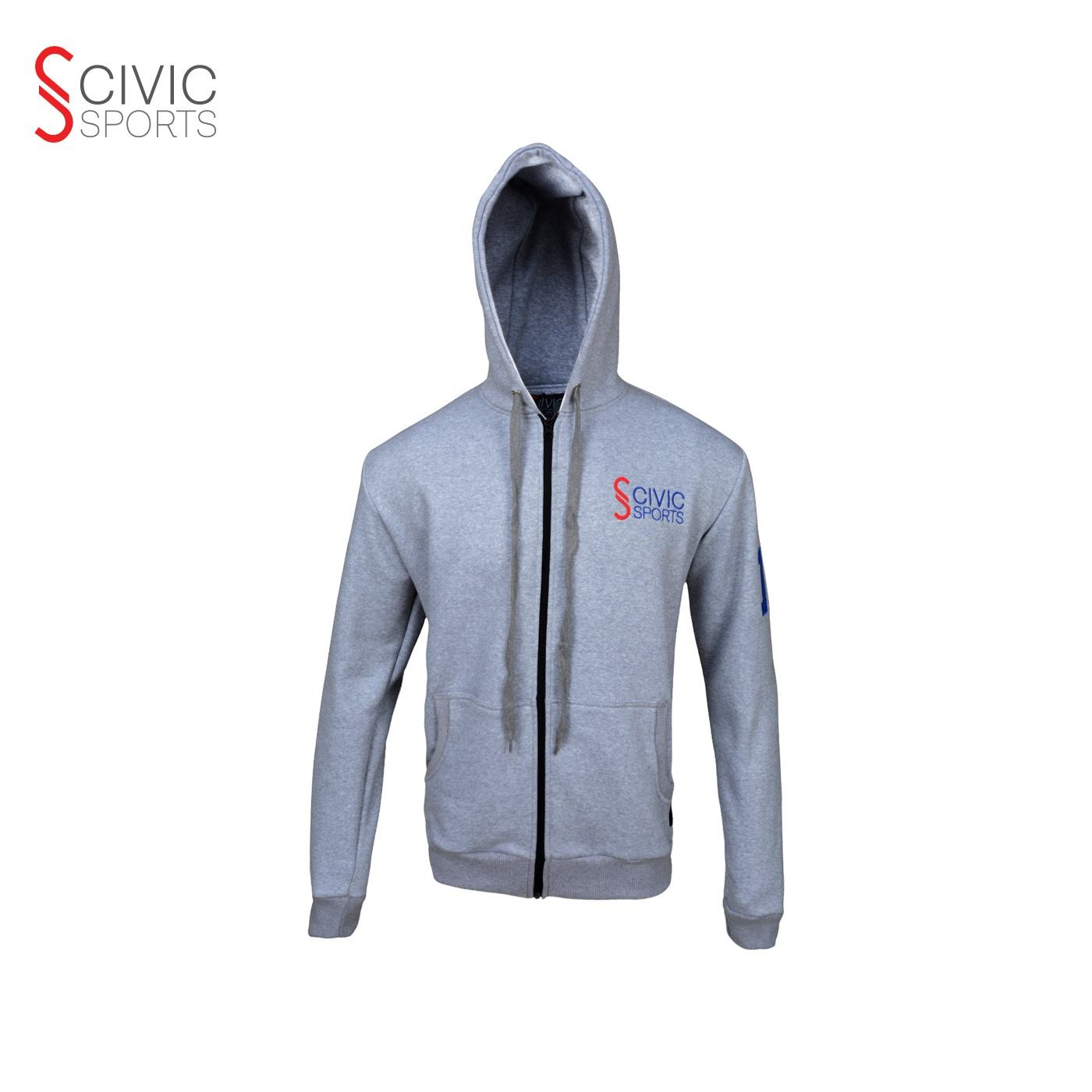 Private Label Custom Zipper Front With Pockets Pullover Slim Mens Athletics Hoodie cotton zipper hoodie