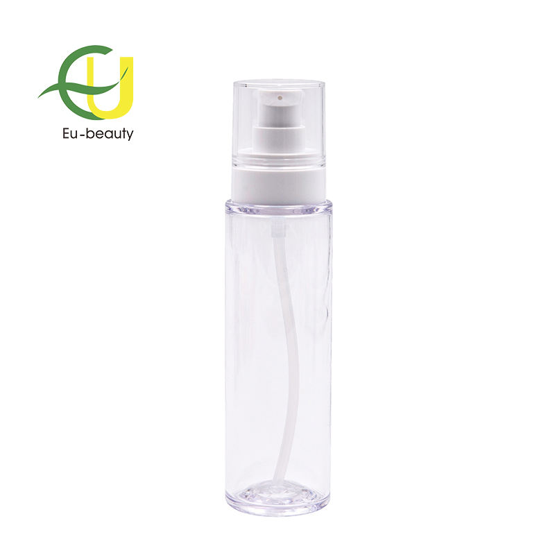 100ml clear petg plastic cream bottle with 20/410 white cream pump ( output0.25ml)