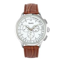China special design dial classic men's brown leather watch