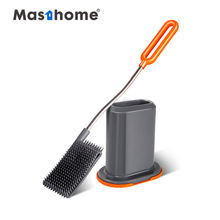 Masthome TRP soft easy brush and holder price silicone head plastic cleaning toilet brush