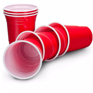 Custom Print High Quality 300ml Red Solo Disposable Plastic Wine Cup Drinking Water Cups For party and Coffee Shop
