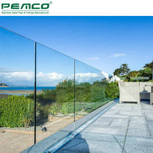 Hot Sale Modern Outdoor Frameless Glass Balustrade U Channel Aluminum Balcony Deck Railing Profile